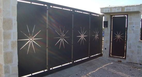 Portail maison pas cher portail sur mesure choisir portail - Portail maison moderne ...