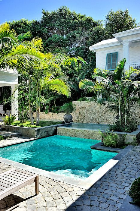 terrasse pavé piscine