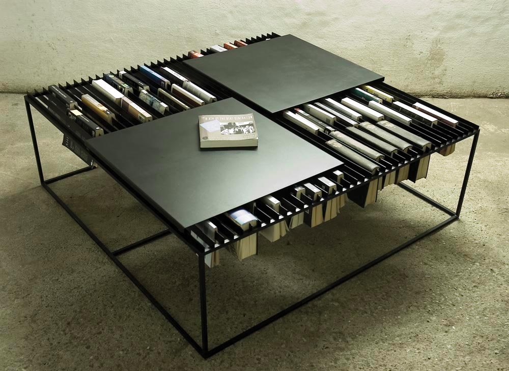 bibliotheque table